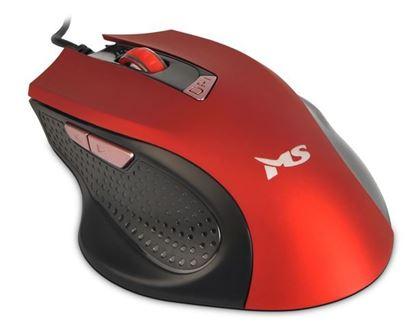 Slika MS WAVE_2 žičani miš, crveni