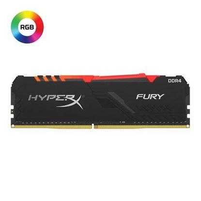 Slika Memorija Kingston DDR4 8GB 2666MHz HyperX Fury Black RGB