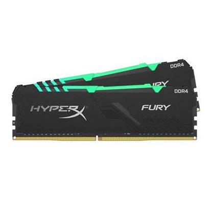 Slika Memorija Kingston DDR4 16GB 2400MHz (2x8GB) HyperX Fury Black RGB