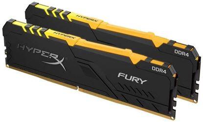 Slika Memorija Kingston DDR4 16GB 2666MHz (2x8GB) HyperX Fury Black RGB
