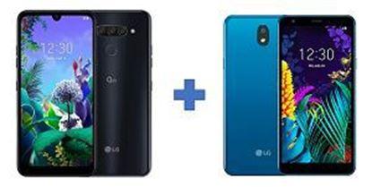 Slika MOB LG Q60 black + LG K20 blue