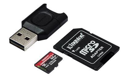 Slika Memorijska kartica SD MICRO 64GB Canvas React Plus + AD + CR