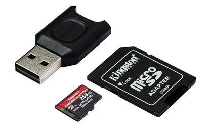 Slika Memorijska kartica SD MICRO 256 GB Canvas React Plus + AD + CR