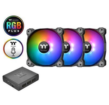 Slika Hladnjak za kućište Thermaltake Pure Plus 14 RGB (3 komada + HUB)