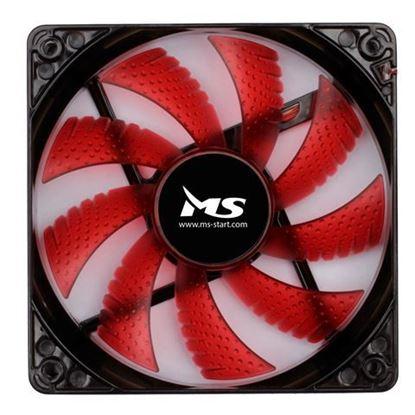 Slika MS FREEZE L120 crveni fan 12 cm